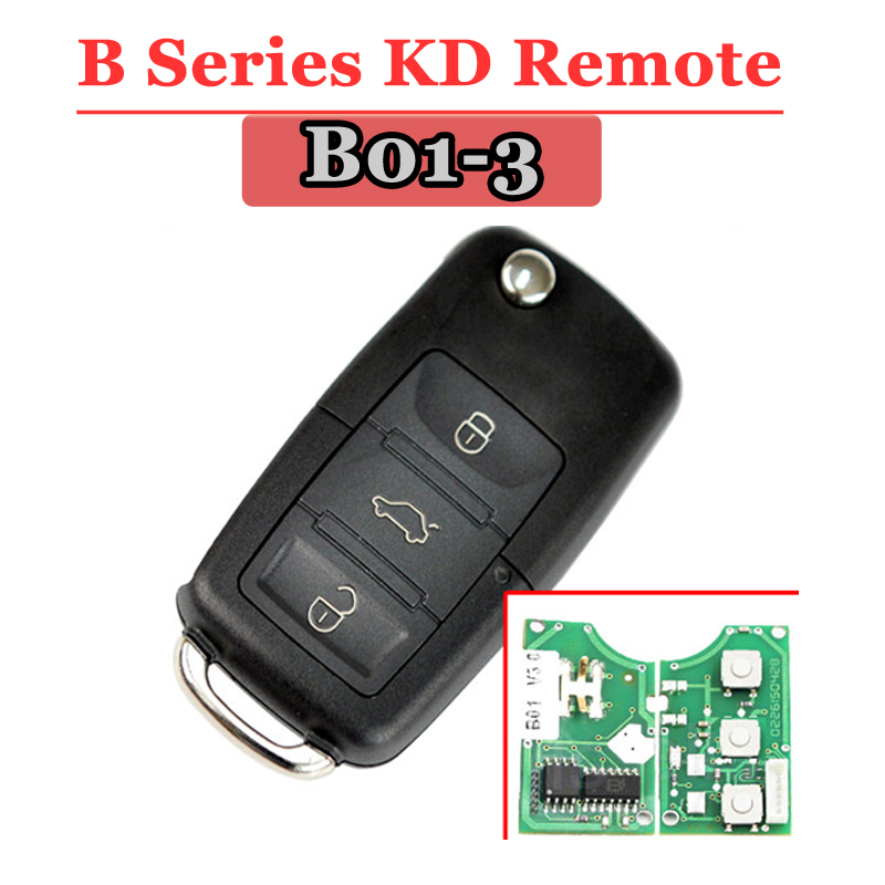 Free Shipping(1 Piece) B01 Kd Remote For VW 3 Button B Series Remote For KD900URG200 Machine