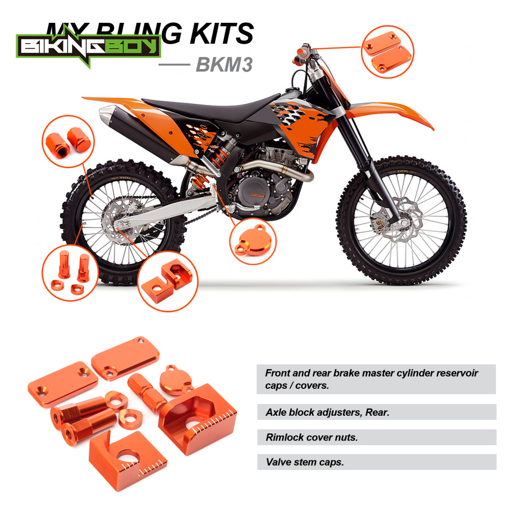 BIKINGBOY Bling Kits pour KTM SX 65 SX65 13 SX85 SX 85 2013 2014 ensemble de Modification accessoires en alliage d'aluminium pour moteur de Motocross