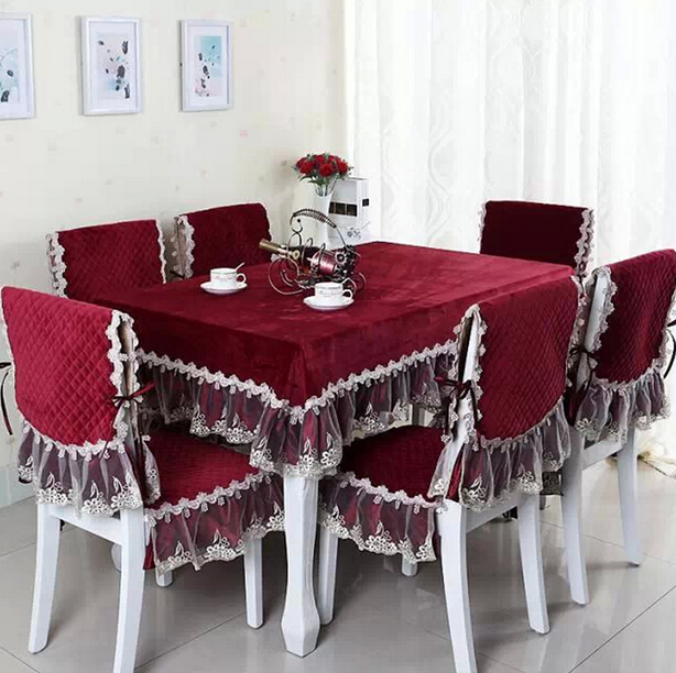 crystal velvet table cloth christmas thinken table cloth rectangular dining table cover set kitchen fabric house deco with lace-in Tablecloths from Home ... & crystal velvet table cloth christmas thinken table cloth rectangular ...