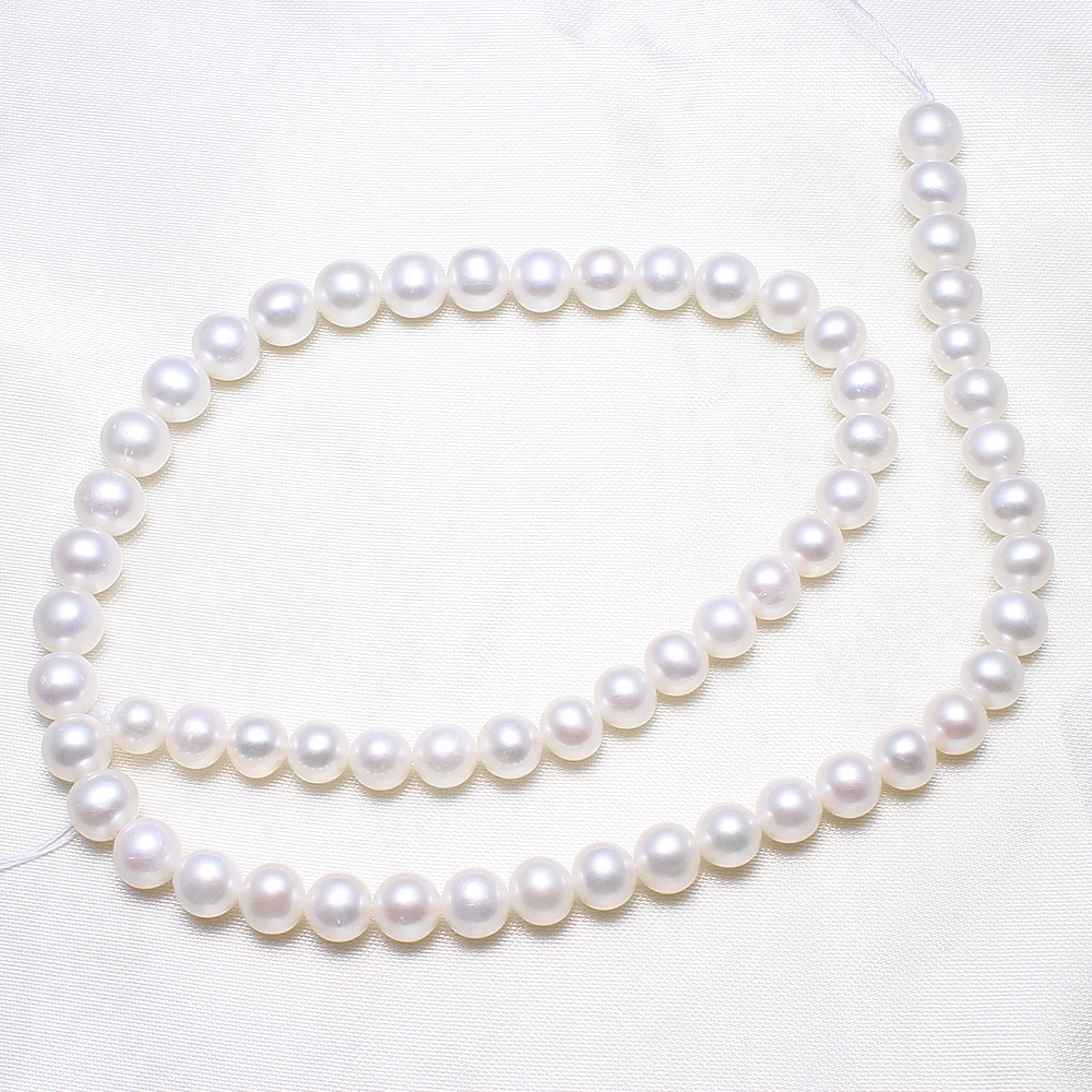 Potato Cultured Freshwater Pearl Beads,Korean, natural, white, 7-8mm, Hole:Approx 0.8mm, Sold Per Approx 15.5 Inch Strand Potato Cultured Freshwater Pearl Beads,Korean, natural, white, 7-8mm, Hole:Approx 0.8mm, Sold Per Approx 15.5 Inch Strand