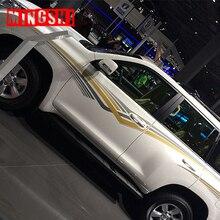 2 стороны автомобиля искусственная кожа Су полосы 3 м линия талии наклейки на авто Графика для Toyota Prado
