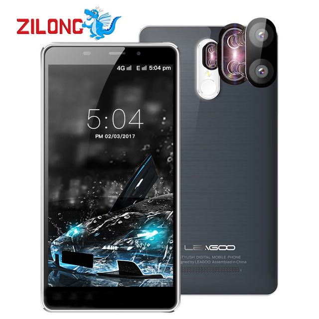 Leagoo M8 Pro 5.7 Inch HD MT6737 Quad Core Smartphone 2GB RAM 16GB ROM 4G Cell Phone Dual Back Cameras Android 6.0 Mobile Phone