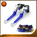 Adjustable Folding Extendable Brake Clutch Lever Motorcycle For SUZUKI GSXR GSXR750 2011 12 13 14 2015 With logo Free shipping
