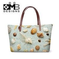 2016 New Designer Women Handbags Ocean Shell Print Shoulder Bags Ladies Messenger Bags Large Capacity Shopping