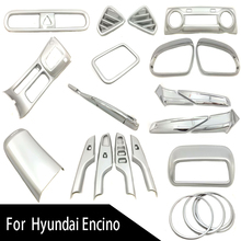 ABS Chrome Car-styling Cover Auto Accessories Chromium Styling Automobile Deco Set For Hyundai Kona Kauai Encino 2018 2019 for hyundai kona encino 2017 2018 rear window side triangle cover trim abs chrome 4pcs set car styling accessories