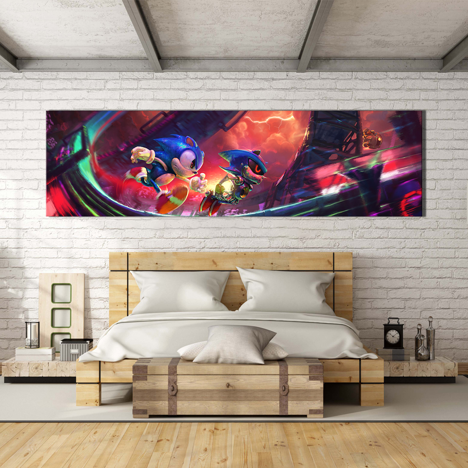 1 Piece Digital Art Painting Super Sonic Video Games Poster Sonic The Hedgehog Artwork Canvas Paintings Wall Art for Home Decor 4