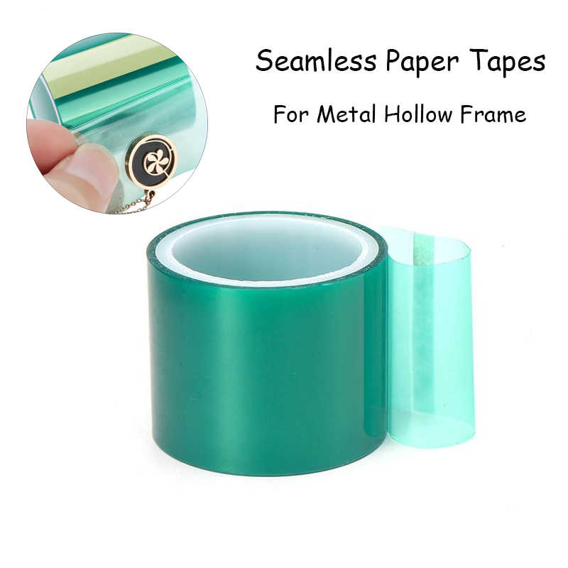 1 Roll  4cmx5m Seamless Paper Tapes For Metal Hollow Frame Expoy UV Resin Craft Open Bezel Setting Helper Tool DIY Pendants