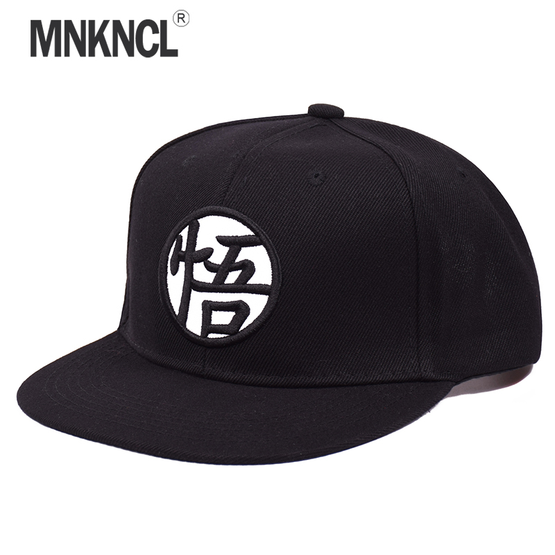 MNKNCL 2018 New arrival Adjustable Dragon Ball Z Goku Baseball Cap Japan Anime Hat Flat Costume Snapback Caps top anime pokemon pocket monsters pikachu logo cotton hat winter warmer beanie cap costume ball cosplay gift new arrival