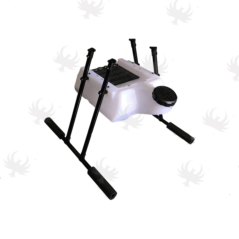 10L 10KG water tank with landing gear conical anti shock square for Agricultural spraying drone