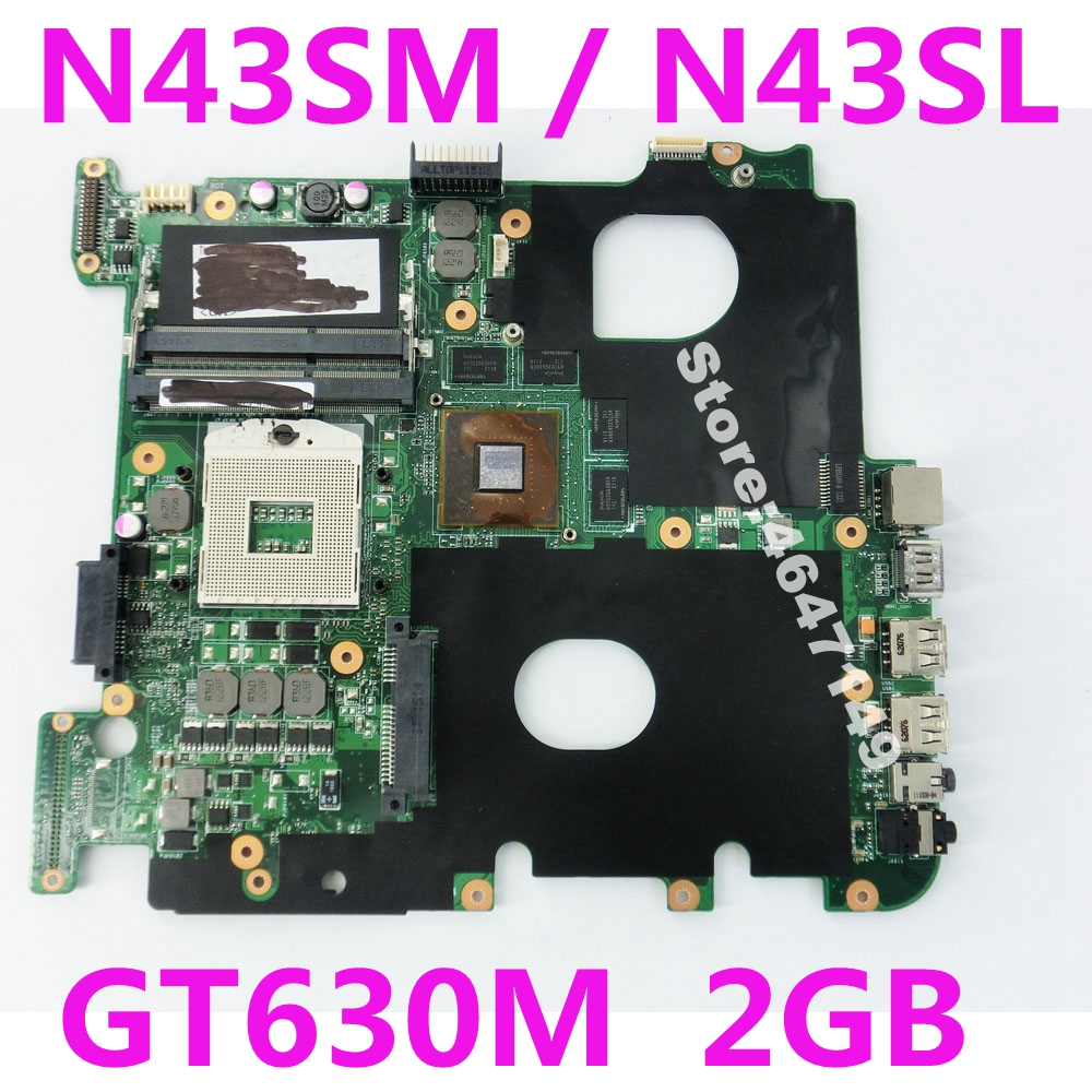 N43SM GT630M 2GB Mainboard For ASUS N43SL N43S N43SN N43SM Laptop Motherboard N43SM Mainboard N43SM Motherboard Tested 100% okN43SM GT630M 2GB Mainboard For ASUS N43SL N43S N43SN N43SM Laptop Motherboard N43SM Mainboard N43SM Motherboard Tested 100% ok