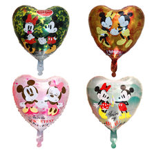 new Mickey Minnie inflatable foil Balloons party supplies balloon Birthday Decoration Kids toys wedding balloon(China)