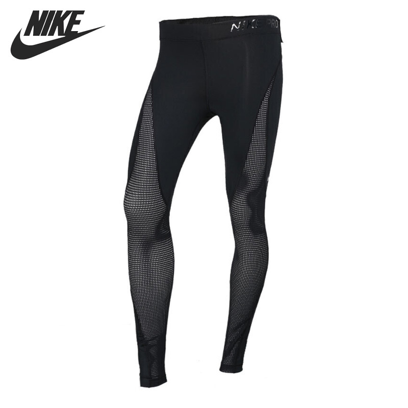 Nike Original New Arrival 2018 AS W NP HPRCL TGHT Women's Running Pants Quick Dry Breathable Sportswear 889646-010 тайтсы женские nike pwr tght window panel 890668 010 черные