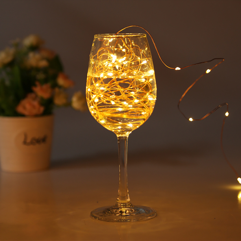 USB LED Strip String Lights Holiday Light Christmas Wedding Wine Bottle Decor Fairy Lamp 1m 2m 3meters,4m 5m 6m10m Copper Wire