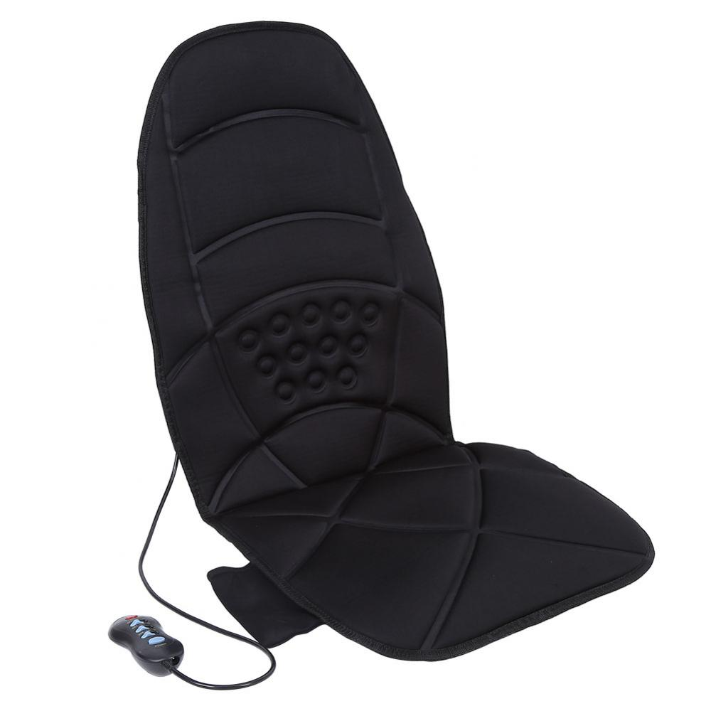 Massage Cushion Heated Electric Car Back Neck Lumbar Full Body Massage New Massager Seat Cushion Pad pillowcase classic style wave pattern car comfy back cushion cover