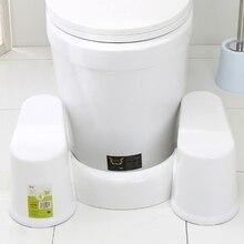 البلاستيك عدم الانزلاق الحمام المرحاض المعونة القرفصاء خطوة القدم البراز ل قعادة مساعدة منع الإمساك أسرع حركات الأمعاء
