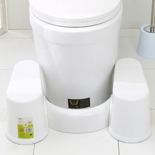 Plástico antiderrapante banheiro toalete aid squatty passo pé fezes para potty ajudar a evitar a constipação movimentos intestinais mais rápidos