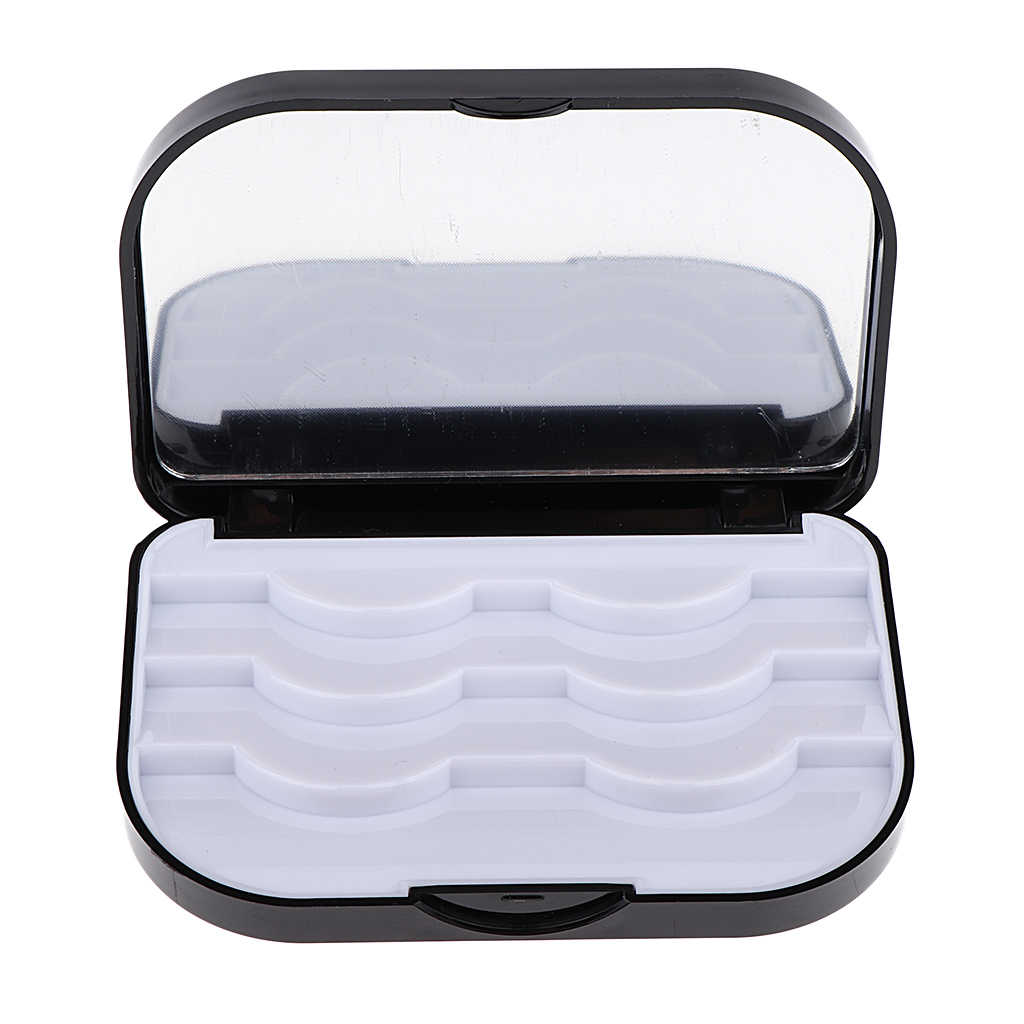 Plastic Makeup False Eyelashes Storage Organizer Box Travel Lashes Holder Case Container