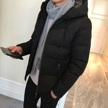 Tcyeek Winter Jacket Men 2019 Thick Down Cotton Coat Plus Size 4XL Korean Fashion Clothes Hat Hooded Tops Parka Hombre LWL865