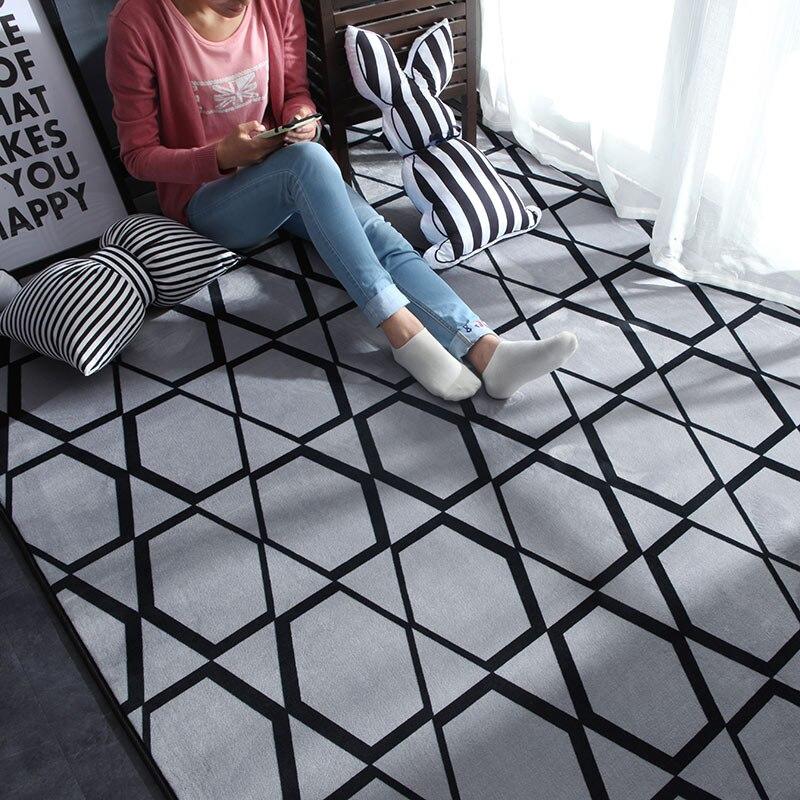נורדי מודרני שטיח פוליאסטר שטיח לשטיחים בסלון ילד ילדים לשחק מחצלת שינה אמבטיה בית דלת מחצלת alfombra