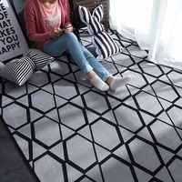 Alfombra nórdica moderna alfombra de poliéster y alfombras para sala de estar piso infantil alfombra de juego dormitorio baño casa alfombra alfombra
