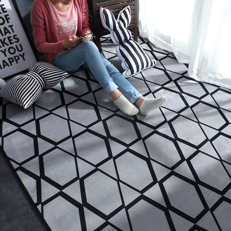 Nordic Modern Carpet Polyester Rug and Carpets for Living Room Floor Child Kids Play Mat Bedroom Bathroom Home Door Mat alfombra
