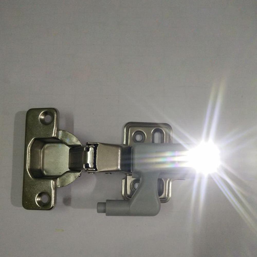 10pcs/set Universal Cabinet Cupboard Hinge White LED Light Wardrobe System Modern Home Kitchen Autoswitch Night Lamp