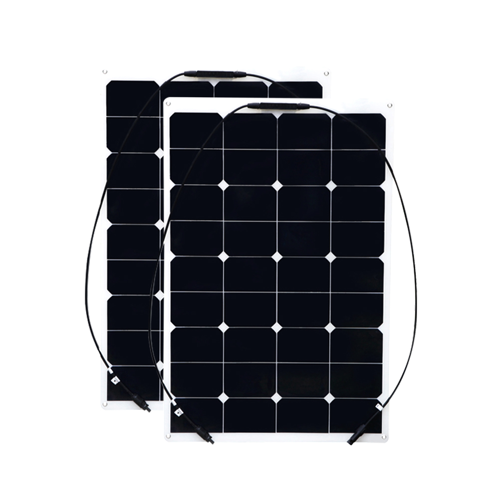 XINPUGUANG 2 PCS 75W 150W flexible solar panel smoothy efiicient cell solar module for car RV boat yacht 12V battery charger цена и фото