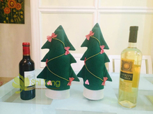 Fashion Christmas Decorations Christmas Small Size Wine Cover Christmas Tree Color in Green