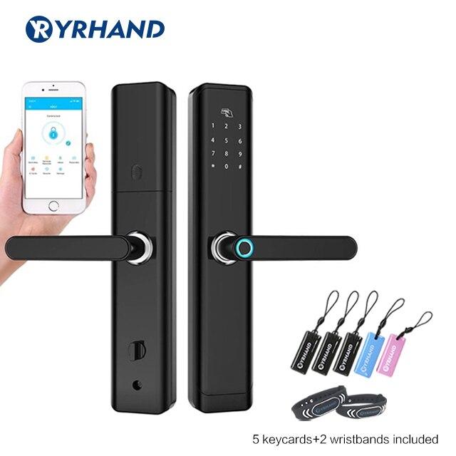Fingerprint Door lock Waterproof Bluetooth Electronic Door Lock Intelligent App Biometric Door Lock Smart Wifi Fingerprint