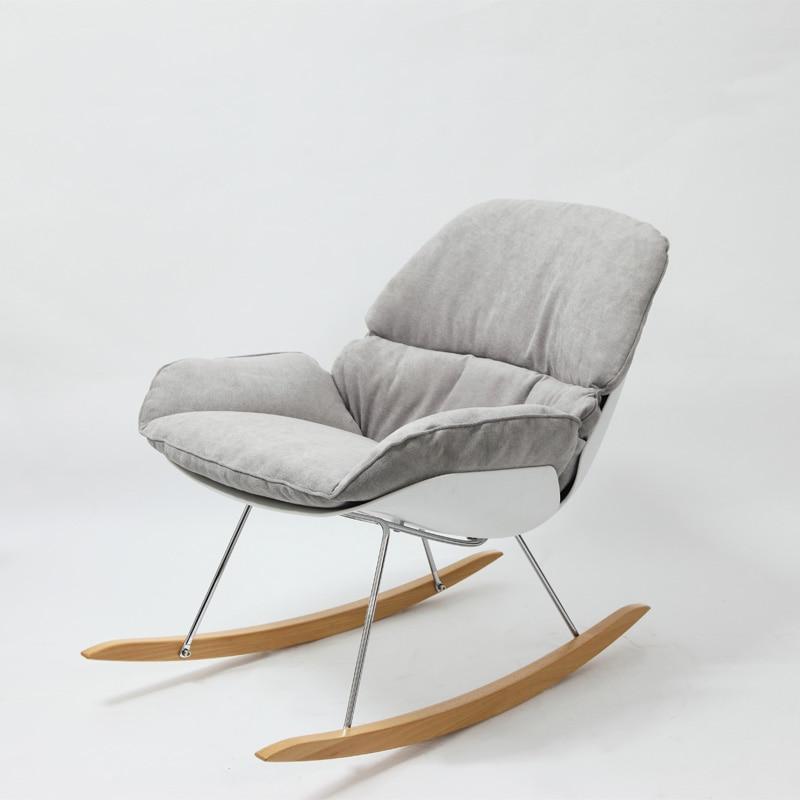 Dise o minimalista moderna mecedora sal n suave coj n pierna silla mecedora sal n decoraci n del - Sofa mecedora ...