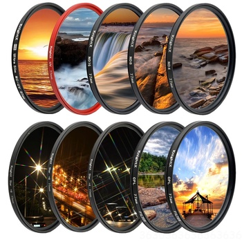 KnightX UV CPL ND Star line Camera Lens Filter For canon sony nikon 49 52 55 58 62 67 72 77 mm accessories photo 700d 24-105 super thin 49 52 55 58 62 67 72 77mm waterproof circular polarizer cpl camera lens filter for canon for sony camera lens