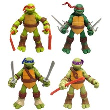 4 pcs/lot Japanese TMNT Teenage Mutant Ninja Turtles Action Figures Toys Can Be Moving Pvc Toy Doll Model For Collections Gifts