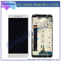 MTK Helio X20 Version For Xiaomi Redmi Note 4 LCD Display Touch Screen Digitizer Assembly With