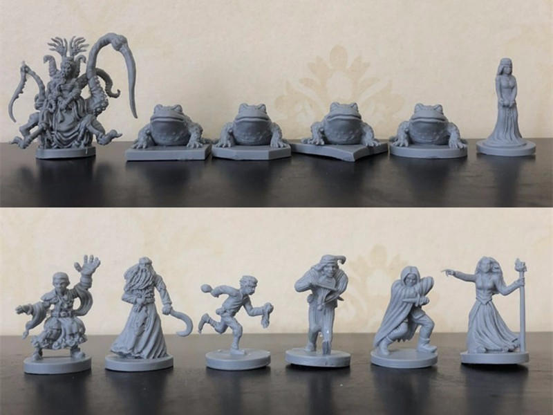1/72 Scale Resin Model Dungeons And Dragons DND Figures Talisman Expansion 12 Pieces Miniatures DIY Toys Free Shipping
