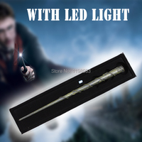 Harry Potter Hogwarts Hermione Granger S With LED Light Illuminating Tip Magical Wand Free Shipping