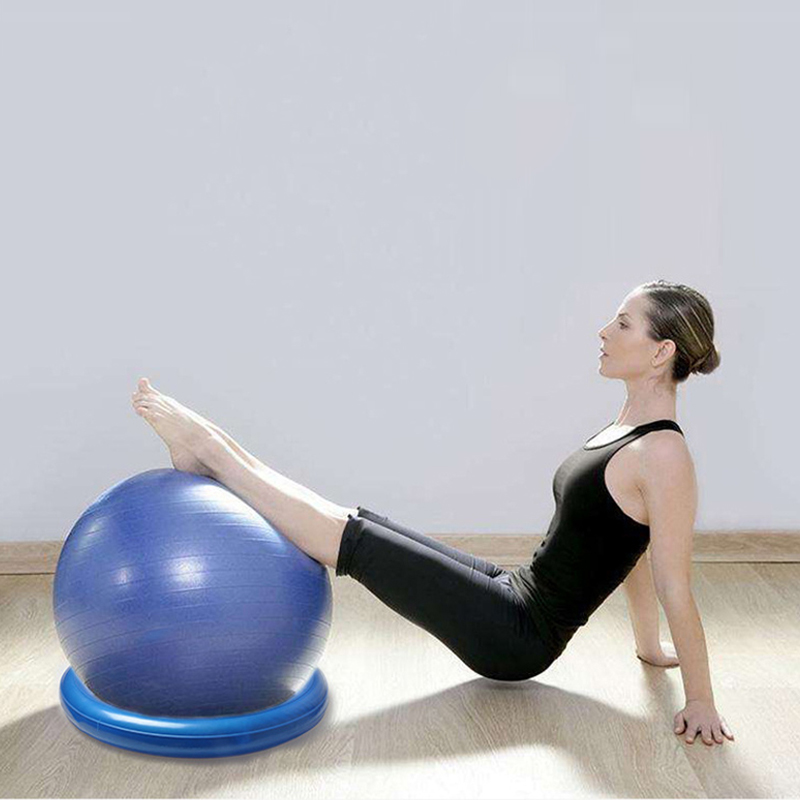 Diameter Yoga ball  fixed ring Yoga Balls Pilates Fitness Gym Balance Fitball Exercise Workout 60cm 2