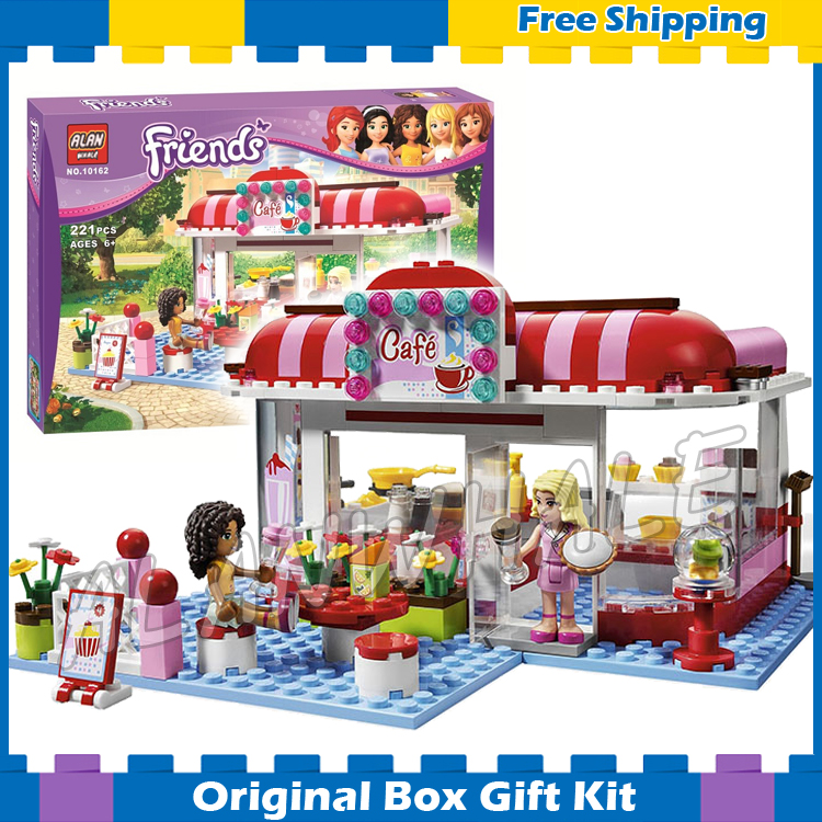 BELA 10162 assemblage building 221p Girl friends series city cafe toys coffeeshop bricks gift Compatible with Lego 10162 friends city park cafe building blocks bricks toys girl game toys for children house gift compatible with lego gift