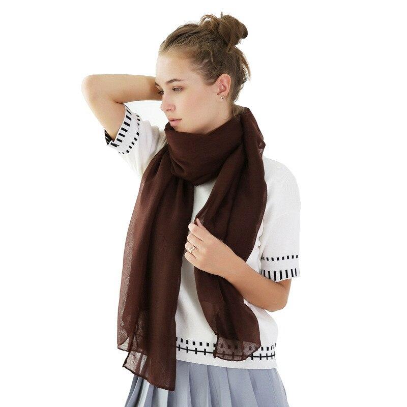 TieSet Cotton Luxury Brand Scarf 2018 Scarves Big Size Solid Color For Women Beach Wrap Scarf Shawl Muslim Hijab Muffler S-121