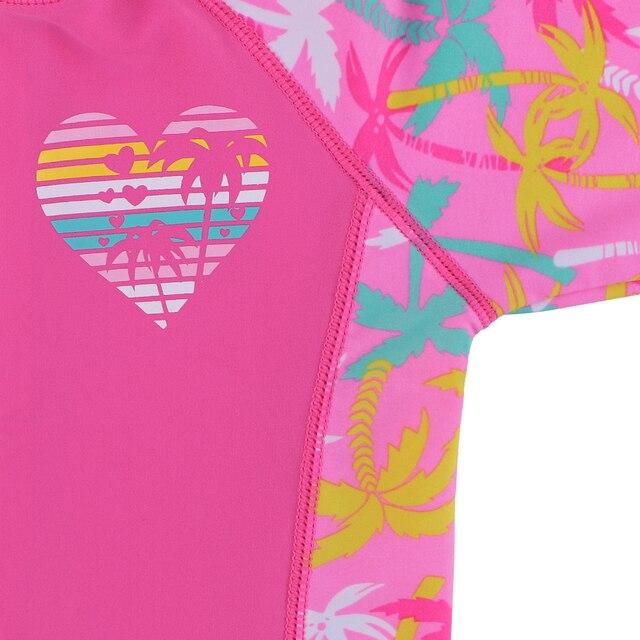 BAOHULU 1-11 ans enfants maillots de bain filles à manches courtes maillot de bain une pièce UPF50 + garde déruption bébé fille maillots de bain enfants Surf costume