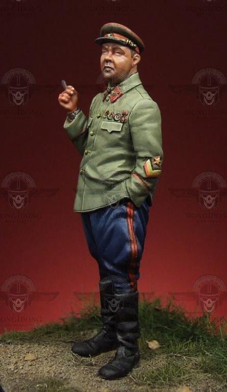 1:35 World War II Soviet officer world war ii german wwii wehrmacht officer 1 6 soldier set model stanford erich vo gm637 for gift collection
