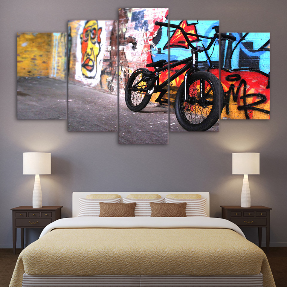 Direct Selling Art Spray Painting Classic Hd Print 5 Panel