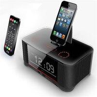Nova Vinda de Multi-função para iPhone6 6 s Alarme Docking Station Speaker A8 com Avançado NFC para Iphone 6 iphone 7 Samsung