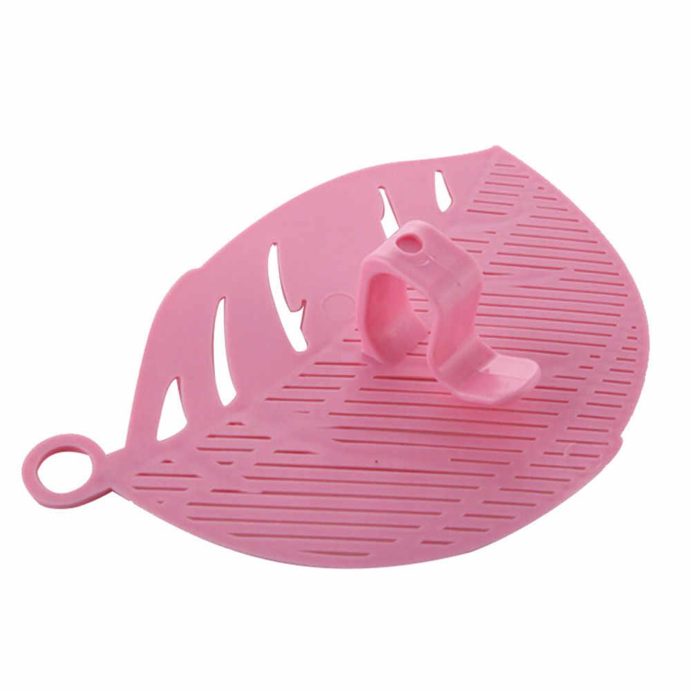 1 PC دائم نظيفة ورقة شكل الأرز غسل غربال تنظيف أداة مطبخ كليب أداة أدوات المطبخ الأرز أدوات تنظيف Cozinha # مصريات