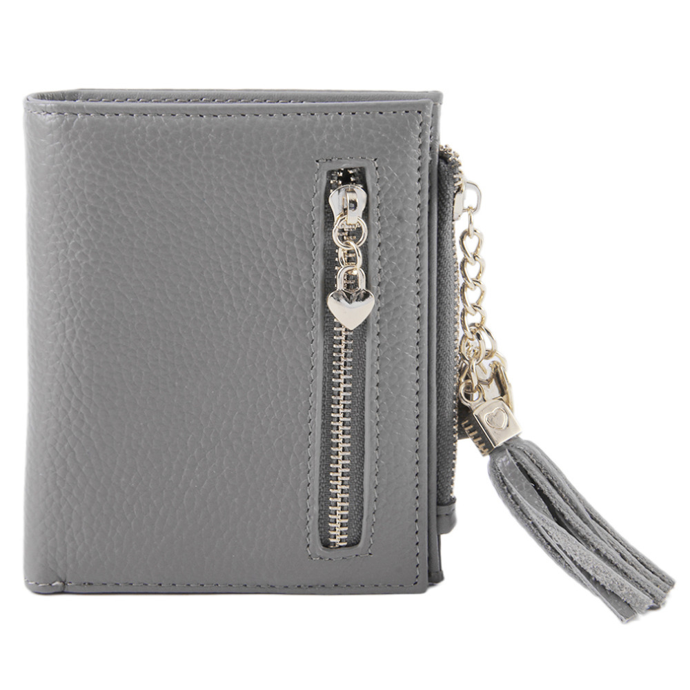 6808 Portable Fold Purse Vintage For Lady Fashion Women Wallet Soft Metal Hasp And Zipper Money Coin Card Fashion Handbag trendy hasp and tri fold design wallet for women