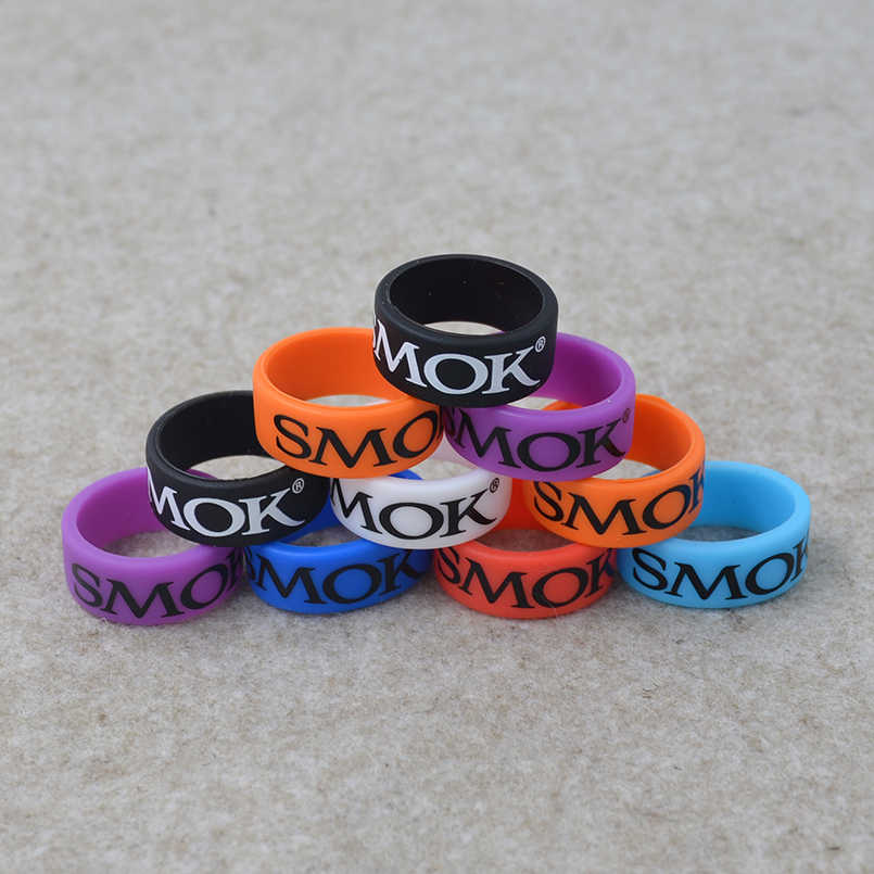 20pcs Smok Silicone rubber vape band ring and Vapor rings band for E cig mechanical mod and decorative protection Tank