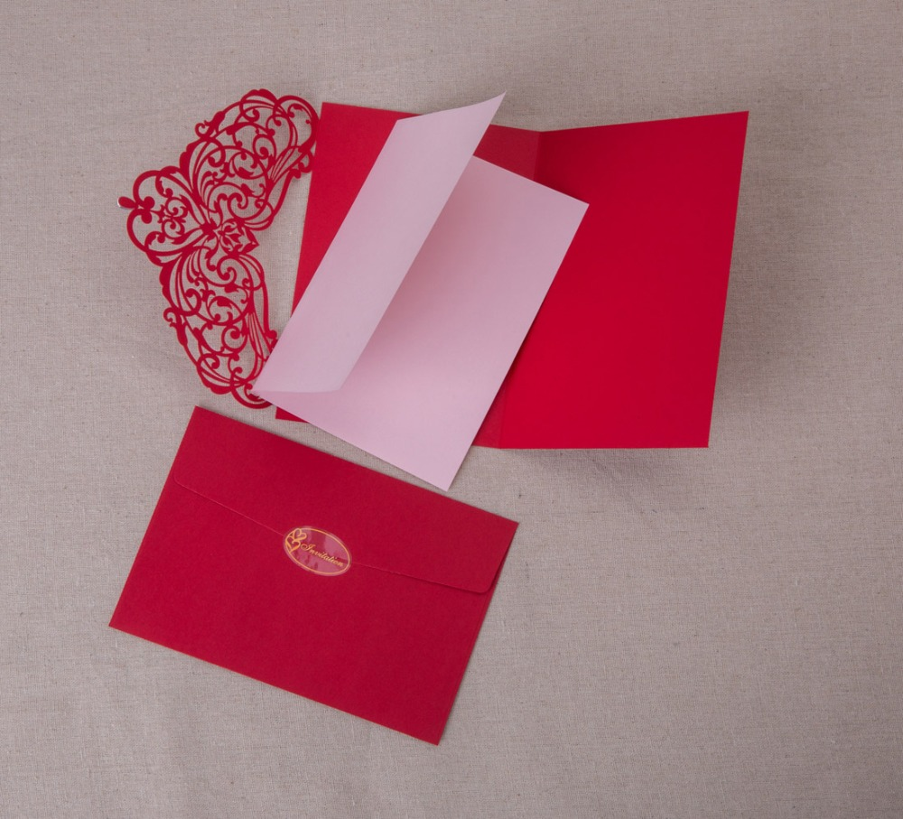 Laser Cut Wedding Invitations Kits Engagement Hollow Floral Paper ...