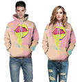 3D Yellow Mouth Hoodie Funny Oil Painting Print Sweatshirt Man Multicolor Hooded Casual Funny Brand Clothing Tracksuit Women 3XL
