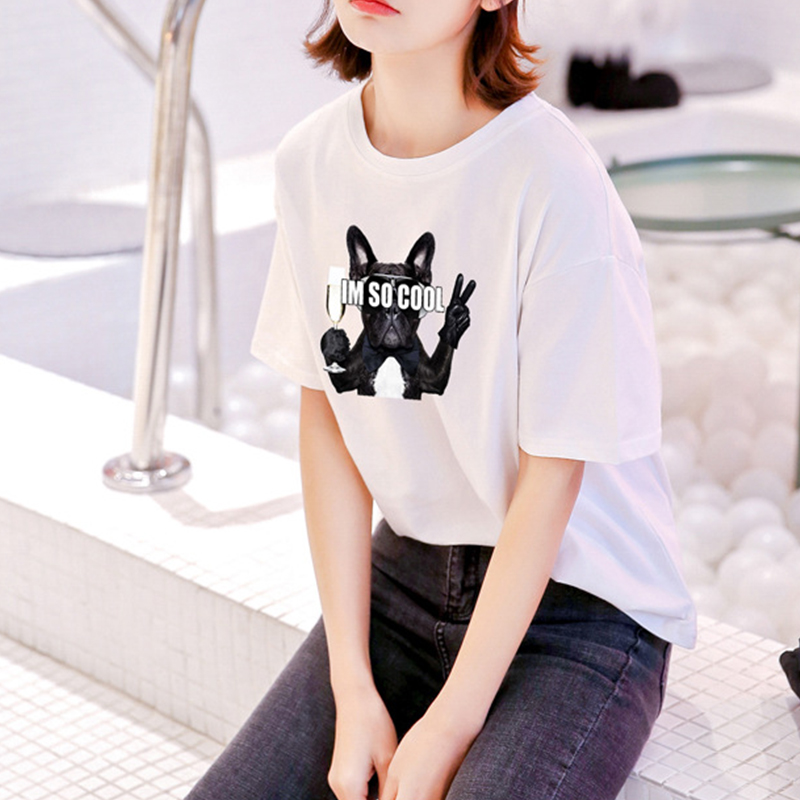 Women T shirt Print Tops Plus Size Summer Casual Street Wear kawaii Clothes Short Sleeve Cartoon O neck Korean Style Tee Women in T Shirts from Women 39 s Clothing