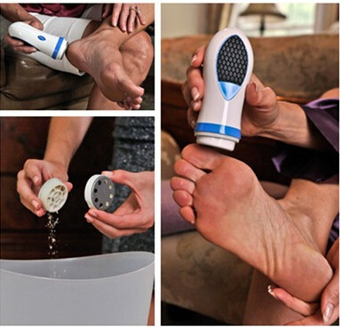2017 NEW Feet Care Tool Electric Foot File Exfoliator Pedicure Callus Skin Remover Personal Care Peeling Foot Massager