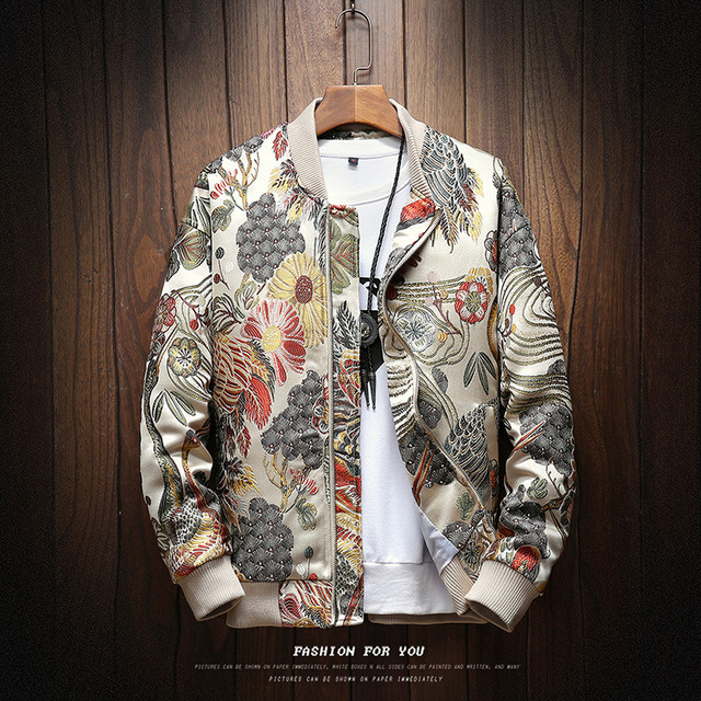 2018 Autumn New Japanese Embroidery Men Jacket Coat Man Hip Hop Streetwear Men Jacket Coat Bomber Jacket Men Clothes